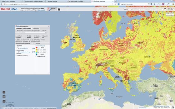 Das Wärmepotential in den oberen Erdschichten dokumentiert eine neue Karte, die vor allem für Bauherren und Planer interessant ist. Sie zeigt, wo sich Erdkollektoren kombiniert mit Wärmepumpen lohnen.