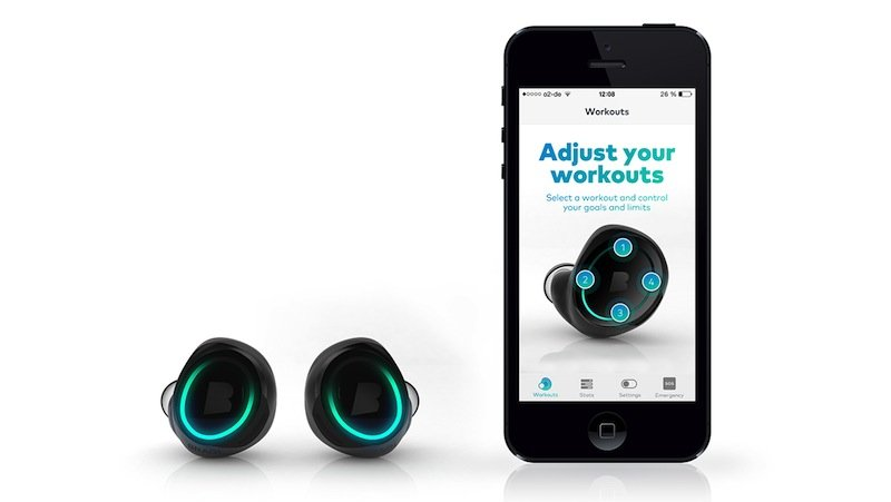 Die Kopfhörer von Bragi sollen sich über Bluetooth mit dem iPhone verbinden können. Sie verfügen zudem über vier Gigabyte eigenen Speicher für bis zu 1000 Songs.