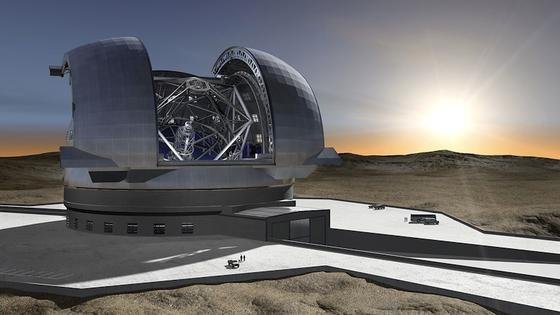 Mit demEuropean Extremely Large Telescope wollen Forscher Milliarden Lichtjahre weit ins Universum blicken. Im Jahr 2022 soll der Gigant in der chilenischen Atacamawüste in Betrieb gehen.Foto: European Southern Observatory