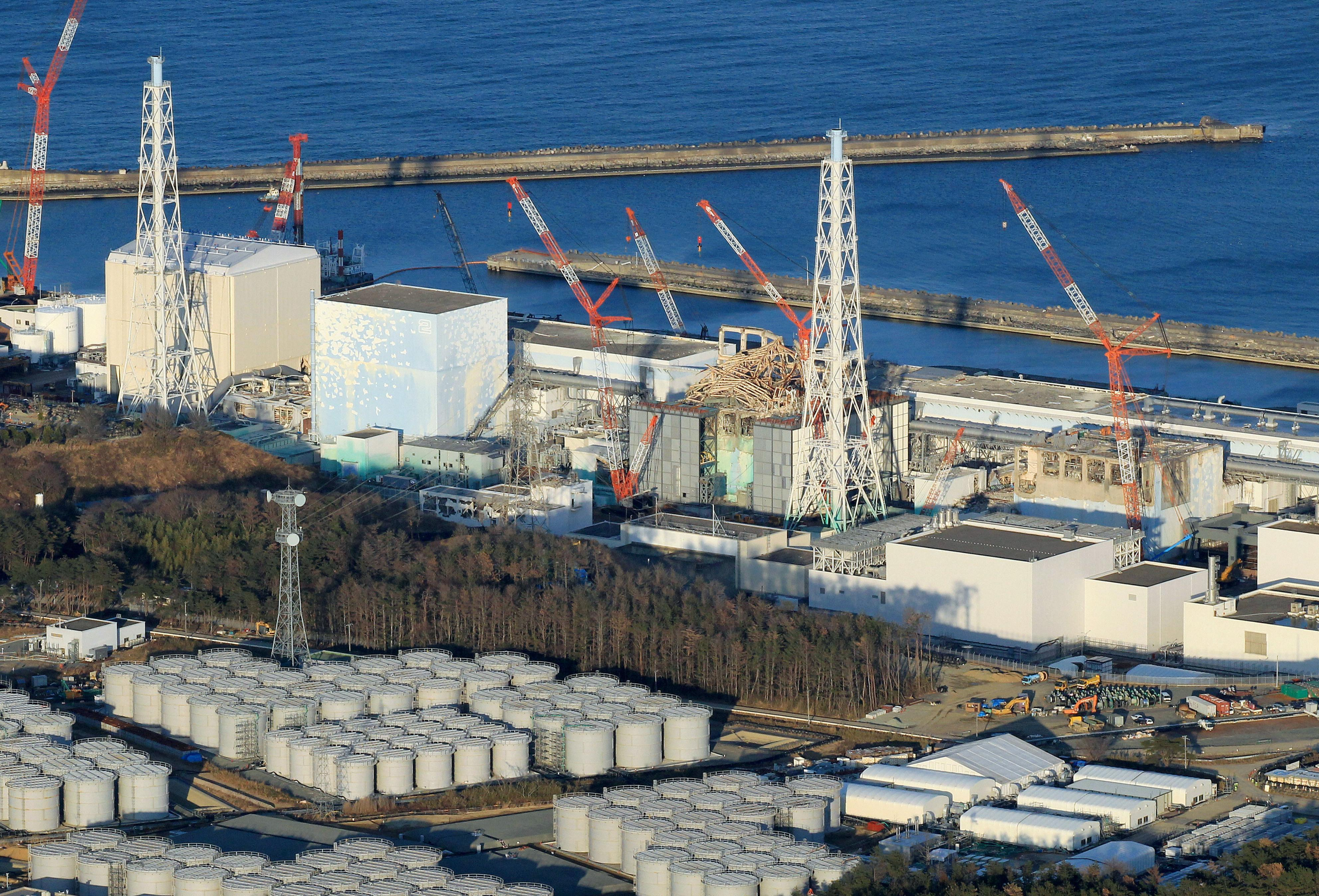 Luftaufnahme von Fukushima vor einem Jahr.