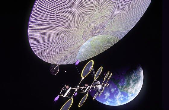 Spiegel im Weltall, hier eine Simulation der NASA, könnten noch am ehesten den Klimawandel auf der Erde bremsen. Wenn die Spiegel ausfallen, würde sich aber der Klimawandel noch stärker beschleunigen, so eine Studie von Klimaforschern in Kiel. Fazit der Studie: Geo-Engineering schadet mehr als es nutzt.