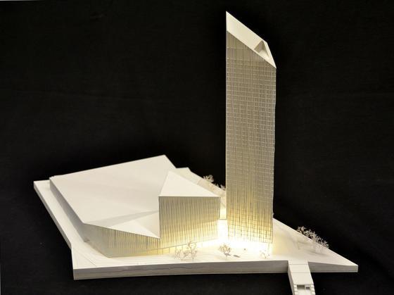 Die Formensprache dieses Hotelkomplexes orientiert sich erkennbar an dem Legespiel Tangram.