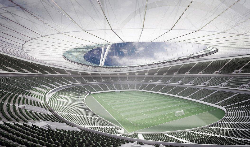 Innenraum des künftigen Nationalstadions in Tripolis: 71.000 Zuschauer haben im libyschen Nationalstadion Platz, in dem 2017 die afrikanische Meisterschaft ausgetragen wird.