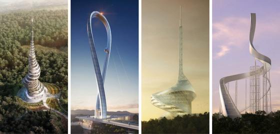 Diese Entwürfe schafften es in die engere Auswahl beim Architekturwettbewerb für den Funkturm vonÇanakkale.