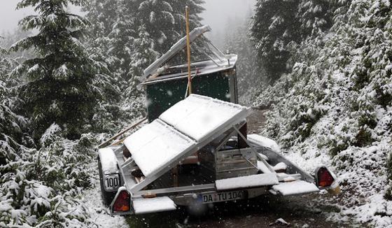 Forschung unter extremen Bedingungen. Das Mikrowellenradar funktioniert auch bei Schnee.
