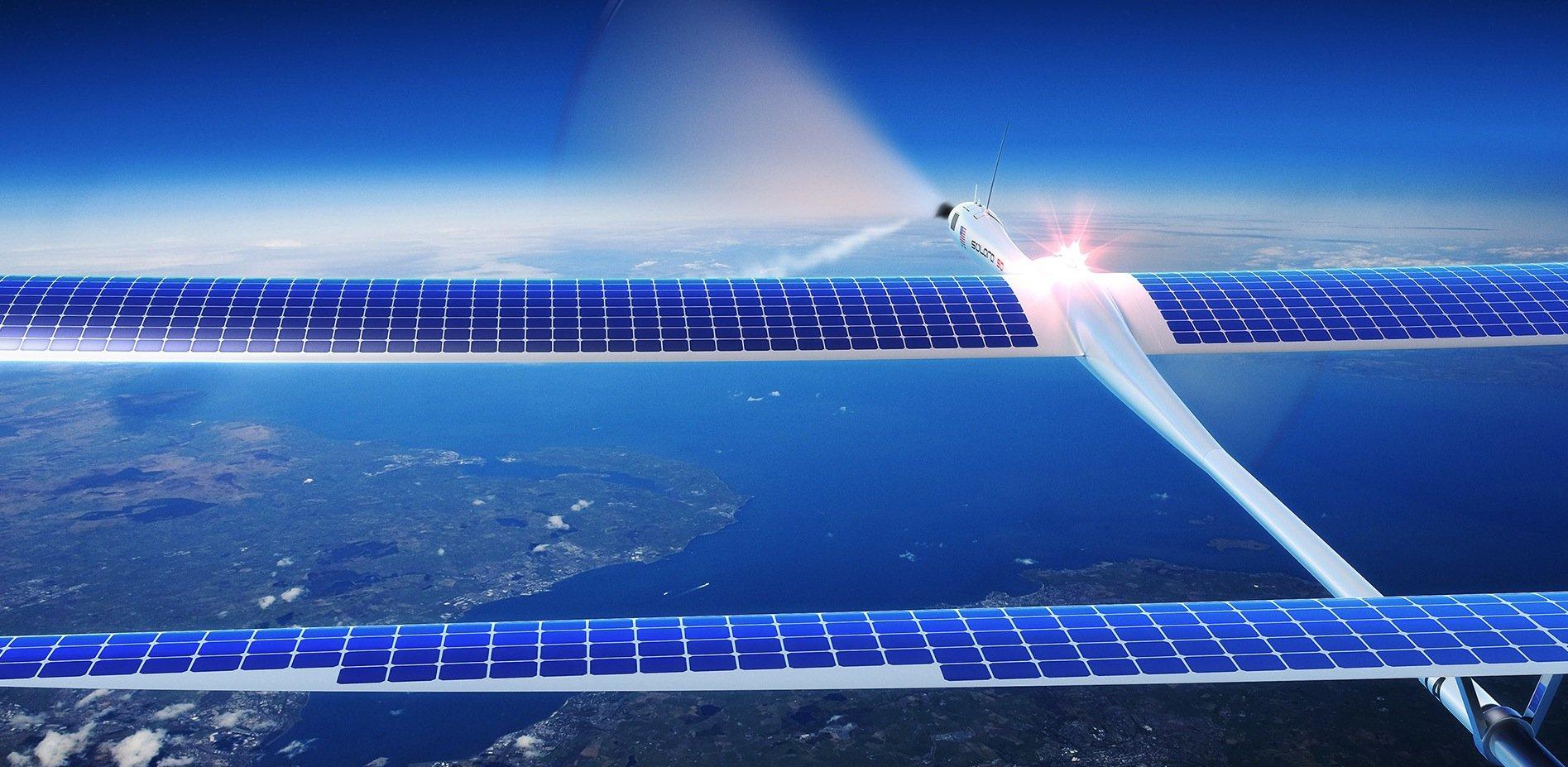 """Die Drohnen """"Solara"""" 50 und 60 starten per Batterie und speichern dann Solarenergie. Laut Hersteller Titan Aerospace können sie fünf Jahre lang am Himmel kreisen, ohne landen zu müssen."""