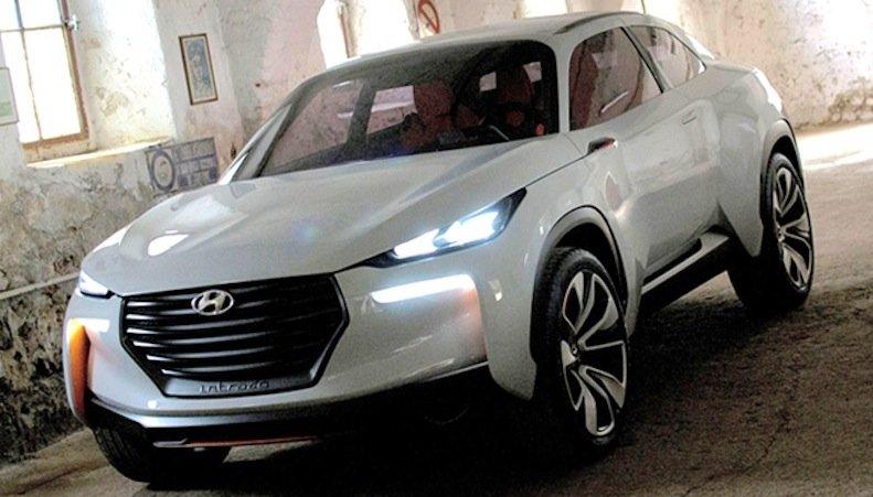 Der Rohrrahmen des Hyundai Intrados besteht aus Carbon und leichtem Stahl. Mit einer Tankladung Wasserstoff soll das Gefährt mit Brennstoffzelle bis zu 600 Kilometer weit fahren können.