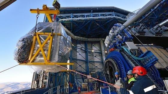 In Chile angekommen: Das Multi-Beobachtungsinstrument MUSE ist inzwischen aufgebaut und einsatzbereit. Zehn Jahre Entwicklungsarbeit sind vorausgegangen.