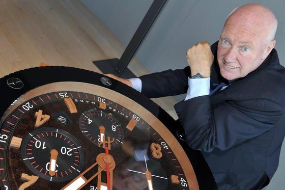 Hat keine Lust auf eine Kooperation mit Apple: Hublot-Chef Jean-Claude Biver. Die Langlebigkeit Schweizer Uhren ist in seinen Augen nicht mit den schnelllebigen Appleprodukten zu vereinbaren.