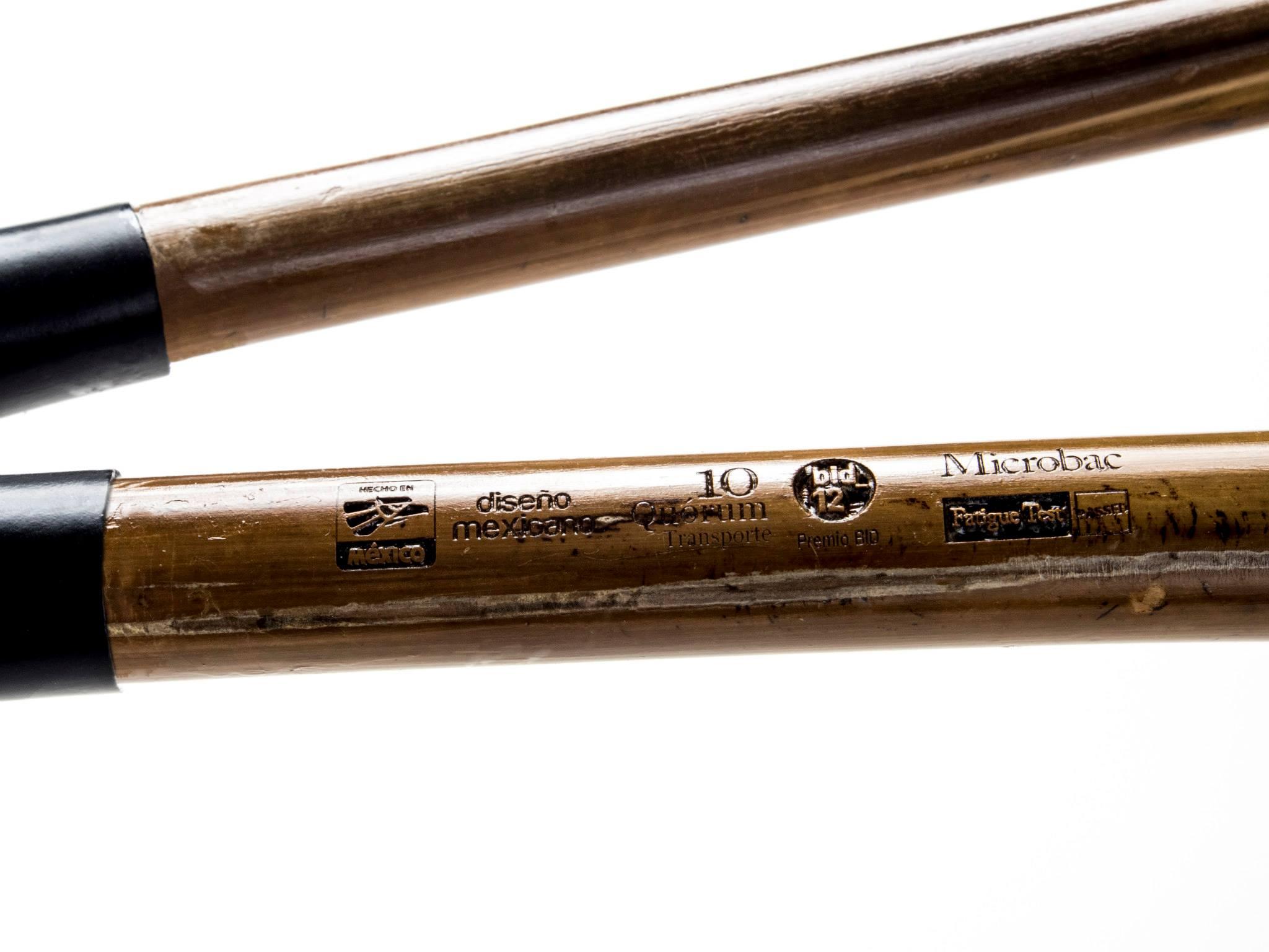 Tolle Verarbeitung auch im Detail: Prägung im Bambusrahmen der mexikanischen FahrradfirmaBamboocycles.