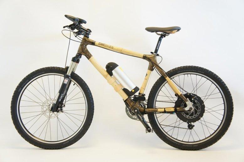 """Erstes Holz-E-Bike der Welt: Das """"Beast"""" der dänischen Schmiede E-Wheels."""