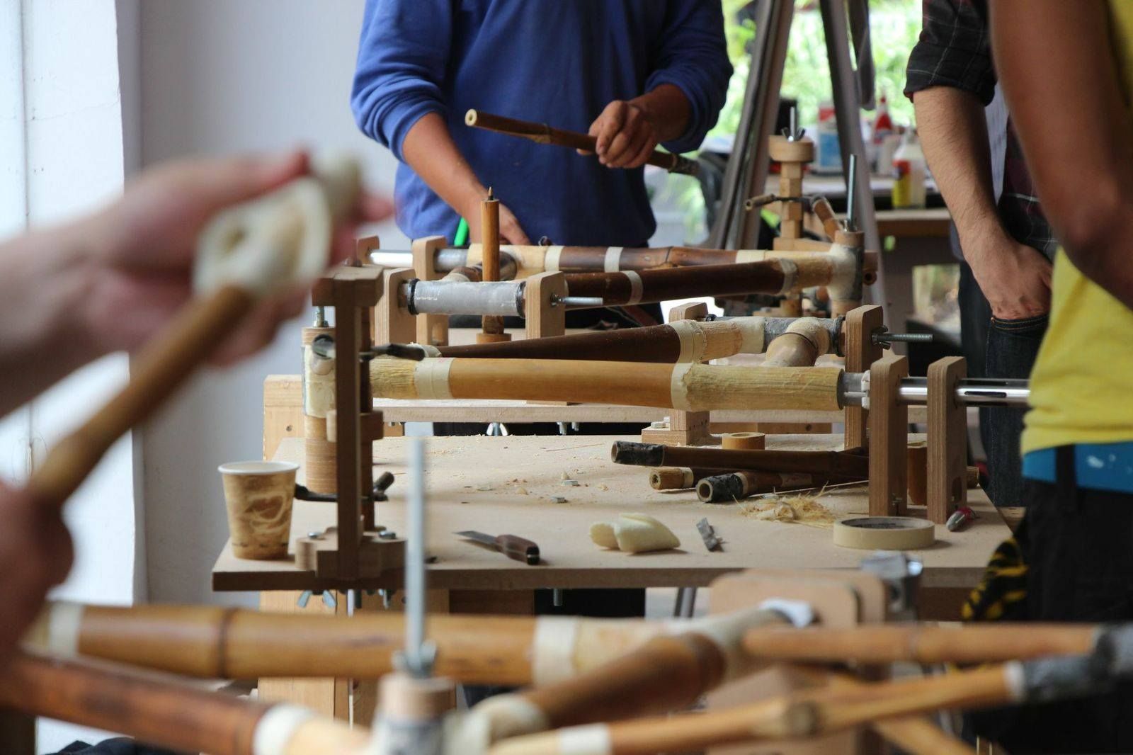Fahrradwerkstatt der mexikanischen Fahrradmanufaktur Bamboocycles