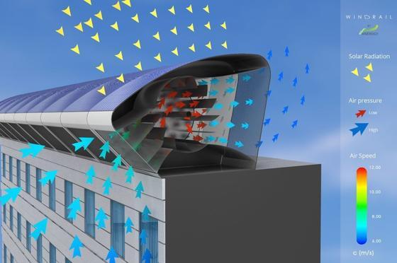 Das WindRail nutzt neben dem Wind auch die Sonne zur Energieerzeugung und lässt sich deshalb fast überall einsetzen.