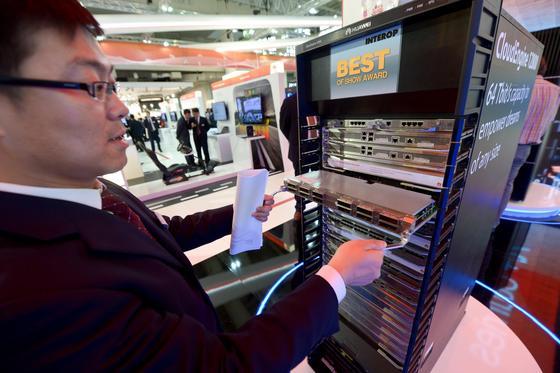 Huawei präsentierte auf der CeBIT 2014 den Server Cloudenergie 12800. Der chinesische Konzern hat in München eine europäische Forschungs- und Entwicklungsabteilung errichtet und rekrutiert junge Ingenieure der Münchner Hochschulen.