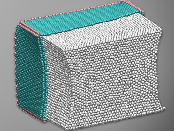 Gefaltete Graphenstruktur zur Speicherung von Wasserstoff: US-Forscher glauben, dass sich Graphen eignen kann, um größere Mengen Wasserstoff etwa in einem Auto mit Brennstoffzelle speichern zu können.