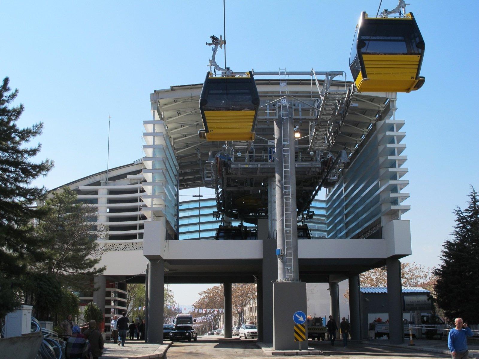 Eine von vier Seilbahnstationen in Ankara.