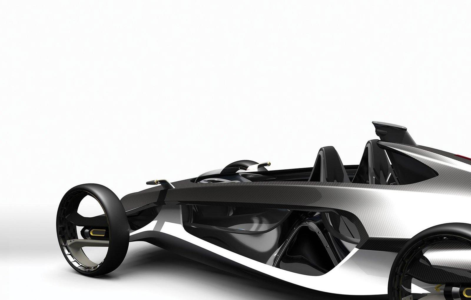 Ideenskizze für ein Chassis: Entwickler posten auf Local Motors Ideen für Autoentwürfe der Zukunft. Im Bild der Entwurf für eine Karosserie, die durch den 3D-Druck entstehen könnte.