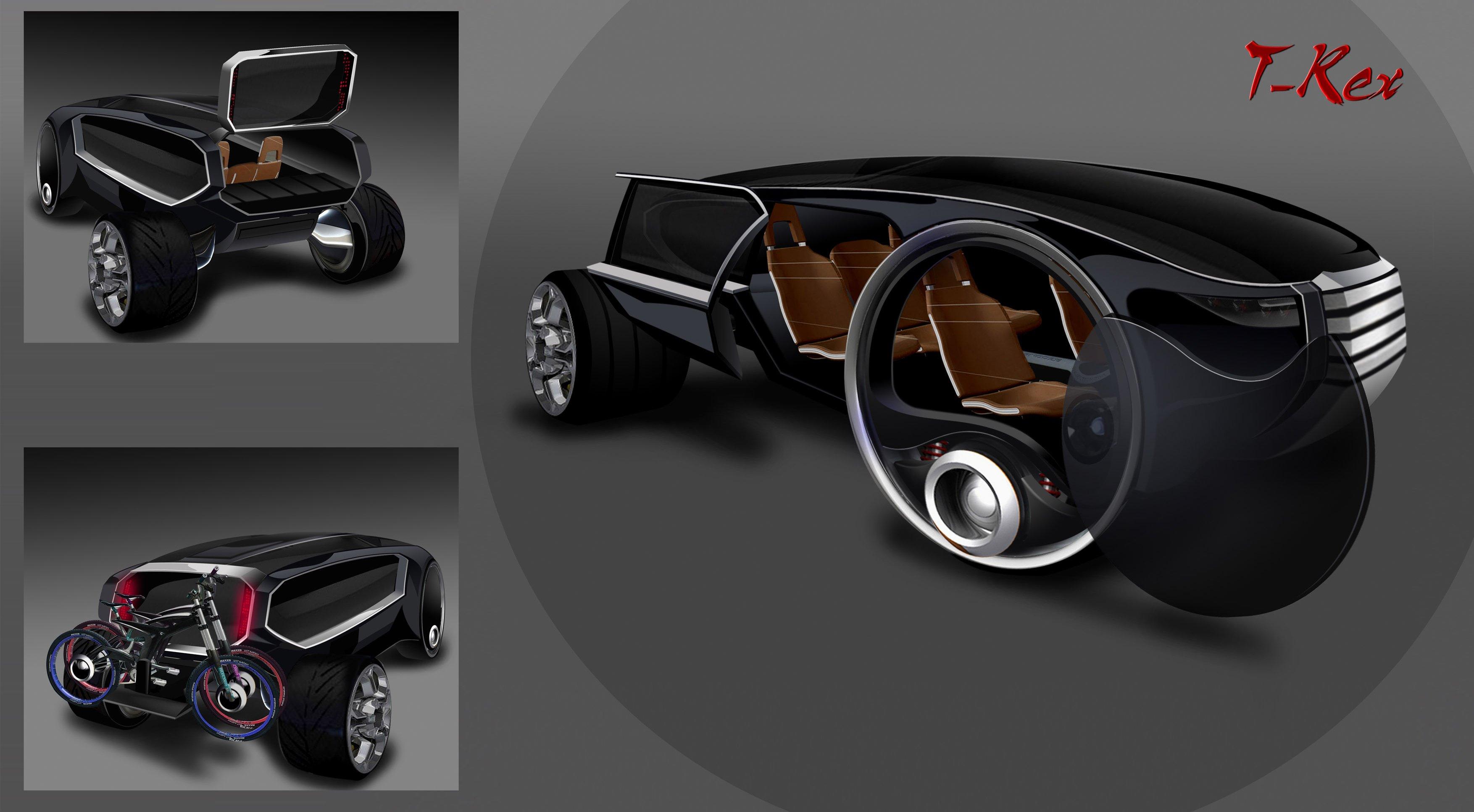 Bei Local Motors werden viele Konzeptideen diskutiert: Hier das T-Rex-Konzept für einen familienfreundlichen SUV mit interessanten Einstiegsmöglichkeiten.