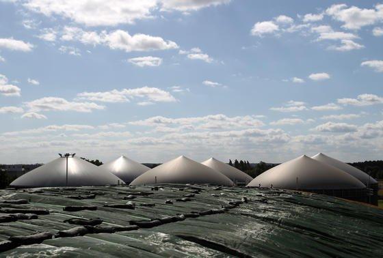 Auch in Deutschland spielt die Biogasproduktion eine Rolle. Die Biogasanlage in Blumendorf bei Bad Oldeslohe versorgt beispielsweise 500 Haushalte und zwei Gewerbebetriebe in Bad Oldeslohe mit Wärme.