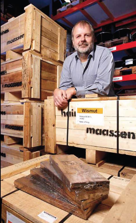 Gunther Maassen, Chef der Haines & Maassen Metallhandelsgesellschaft in Bonn, ist einer der größten Importeure Seltener Erden in Deutschland. Mit Sorge sieht er, dass China als wichtigster Lieferant von Neodym künftig auch das Geschäft mit Legierungen an sich ziehen will.