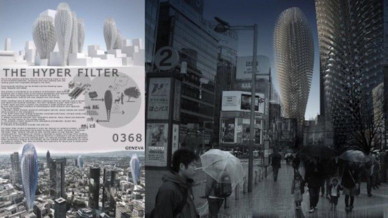 Wie riesige Kakteen sehen die Hyper-Filter-Hochhäuser aus, die ein russischer Architekt entworfen hat. In ihnen soll Luft gefiltert werden.