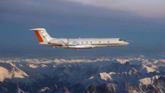 Das Forschungsflugzeug Halo wird bis Ende April zu zwölf Messflügen in Europa und über dem Atlantik aufbrechen.