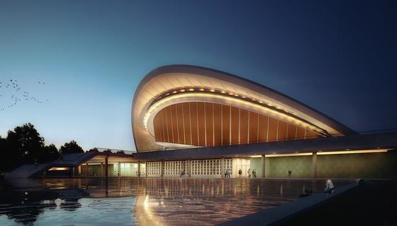Licht wird bei der Sanierung der Berliner Kongresshalle eine wesentliche Rolle spielen. Im Innenbereich sorgt es für optimale Orientierung, im Außenbereich wirkt es als Eye Catcher für Passanten und Bahnreisende.