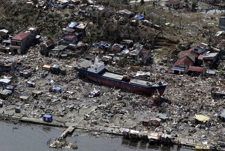 Der Taifun Haiyan zerstörte im November 2013 die Küstenstadt Tacloban auf den Philipinen. Solche Unwetter-Katastrophen werden zunehmen, erwartet der Weltklimarat IPCC.