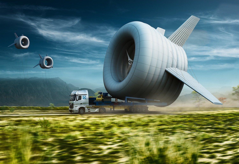 schwebende turbine erzeugt in 300 metern h he dreimal mehr strom. Black Bedroom Furniture Sets. Home Design Ideas