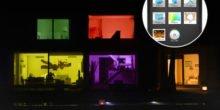 Schreibtischlampe mit gebogenen OLED-Panels und einer App als Schalter