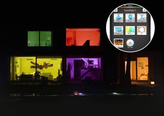 Mit seiner Lichttechnik Hue lässt sich jede einzelne Lichtquelle individuell in der Farbgebung und Helligkeit steuern. Dafür sind die Lampen ins heimische WLAN-Netz eingebunden.