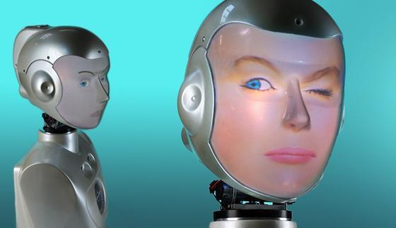 Auf Knopfdruck gut drauf: Hausroboter der Zukunft können aussehen wie die eigene Freundin und beherrschen dabei die Mimik der Menschen.