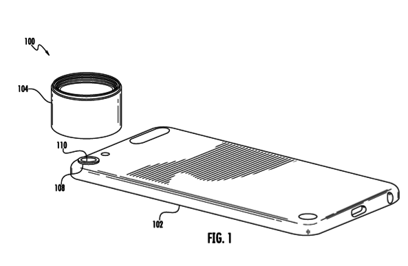 Die Patentschrift zeigt einiPod touchmit Bajonett-anschluss für Wechselobjektive.