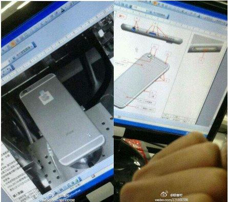Dieses Bild von Weibo sorgtfür Gerüchte zum Einsatzdes Wechselobjektivs beim iPhone 6.