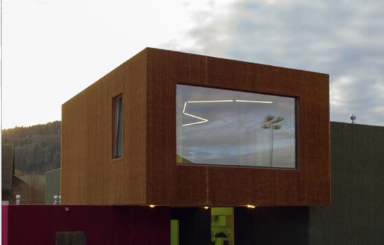 Wandteppiche der besonderen Art stellt das Schweizer Unternehmen Gasser Fassadentechnik her. Sie verkleiden ganze Häuser damit.