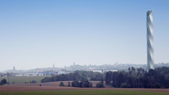 In diesem Testturm in Rottweil will ThyssenKrupp zukünftig Aufzüge testen. Er könnte sich auch schnell zur Touristenattraktion mausern. Denn geplant ist eine öffentliche Besucherplattform in einer Höhe von 232 Metern.