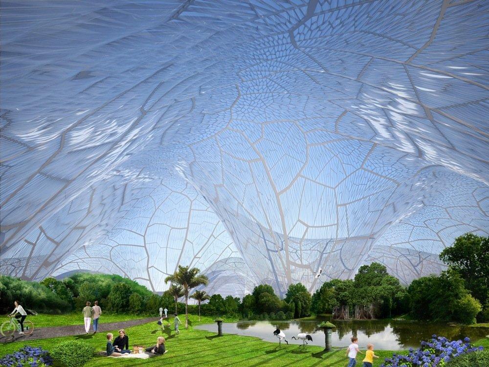 Die Bubbles können aus transparenter Ethylen-Tetrafluorethylen-Folie gebaut werden.