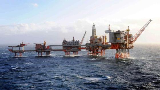 Bohrinsel von BP: Es gibt 450 Bohrinseln in der Nordsee. Es könnten noch einige dazukommen, wenn eine britische Firma damit beginnt, Gas aus Kohlevorkommen unter der Nordsee zu fördern.