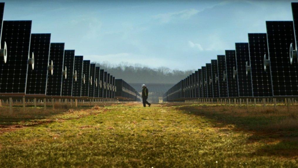 Solarfarm von Apple: Der Computer-Konzern versorgt sich inzwischen mit 100 Prozent grünem Strom.