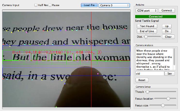 Die am MIT entwickelte Software kann Texte erkennen und für Blinde in Sprache umwandeln.