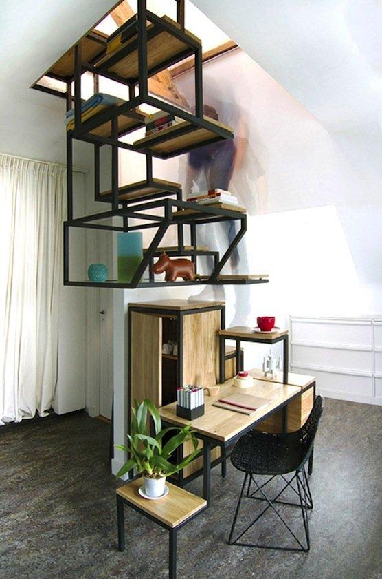 Die Treppe Object élevé der Designerin Mieke Meijer. Etwas Mut ist gefragt, denn ein Geländer gibt es nicht.