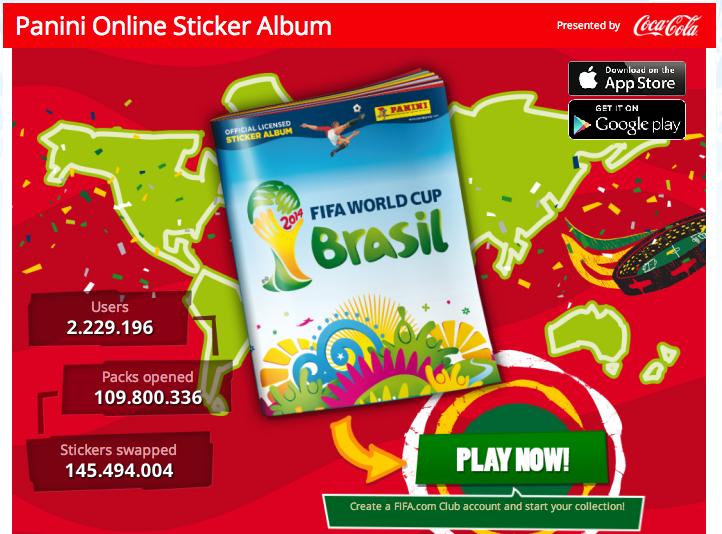 Für die berühmten Panini-Bildchen zum Sammeln gibt es jetzt auch ein Online-Sticker-Album.