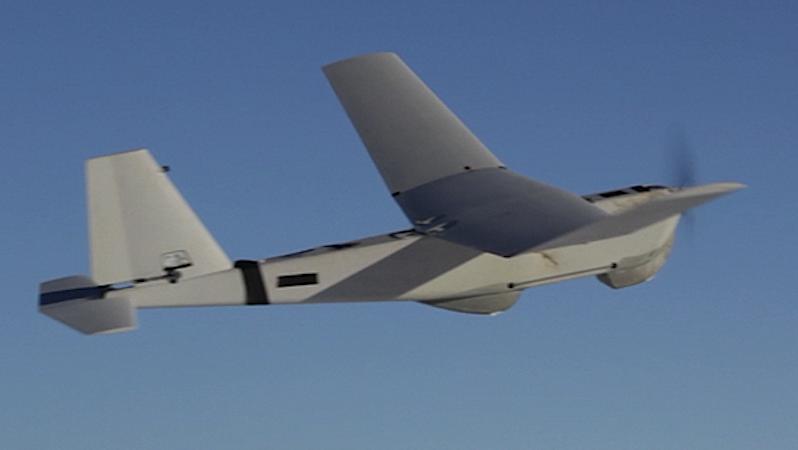 Die Drohne Puma im Flug über Alaska.