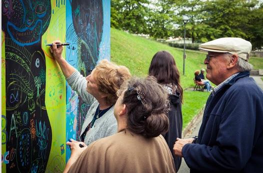 Tribute to Kijno: Kollektives Graffiti aus dem Jahr 2013.