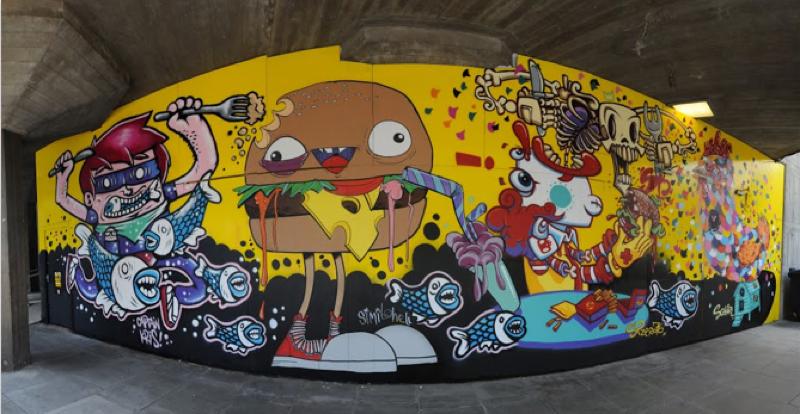 Aus der Reihe Verlorene Seelen (Lost Souls) stammt dieses Graffiti.