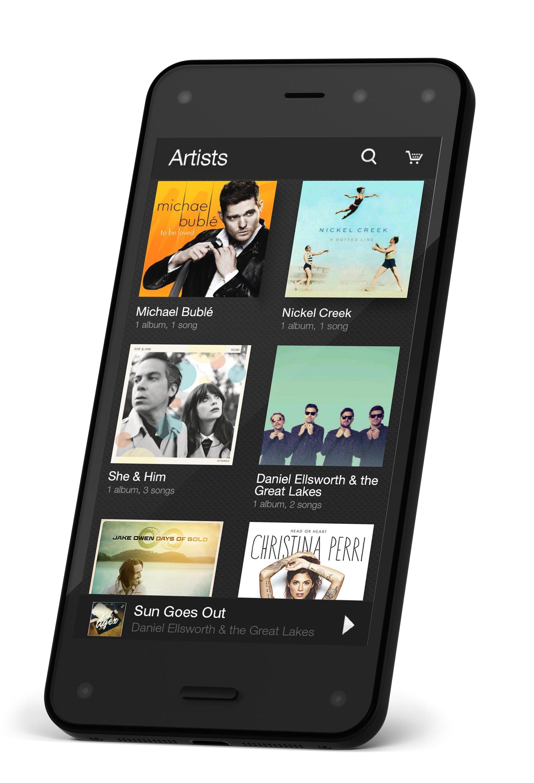 Das Fire Phone von Amazon zeichnet sich vor allem durch die Erkennungssoftware Firefly und seine spezielle 3D-Darstellung aus.