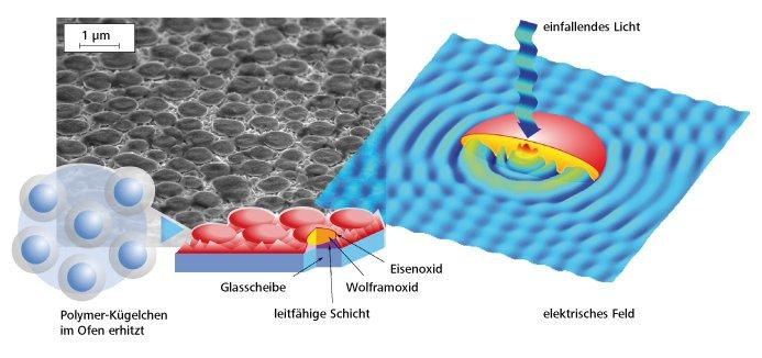 So entsteht die Solarzelle nach Vorbild eines Mottenauges.