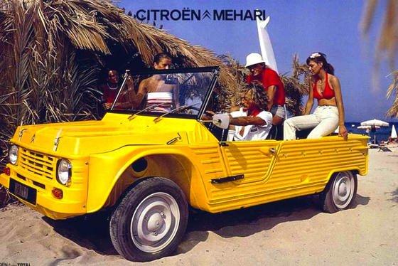 Der Citroën Mehari, der 1968 auf den Markt kam, war ein Kultauto: Die Plastik-Karosserie war einfach auf ein 2CV-Chassis gesetzt. Jetzt willCitroën eine Elektroversion des Spaßautos auf den Markt bringen.