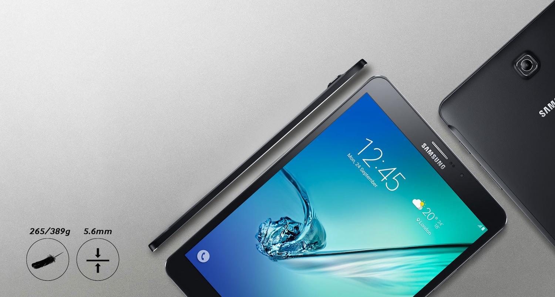 Das Samsung Galaxy Tab S2 ist nur 5,6 mm dick. Zum Vergleich: Das ultradünne Apples iPad Air2 bringt es auf 6,1 mm.