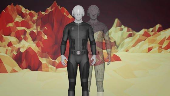 Nur eine phantastische Idee oder wirklich umsetzbar? Der Anzug Tesla Suit soll den Träger beim virtuellen Spiel körperliche Empfindungen spüren lassen.